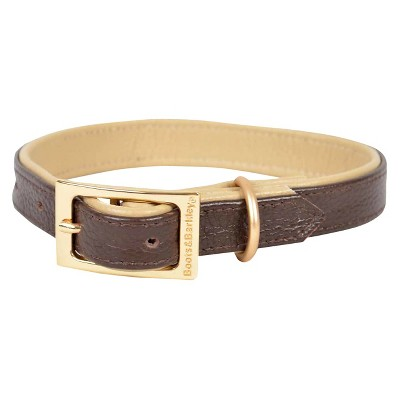 Adjustable Leather Dog Collar - Brown (S) - Boots & Barkley