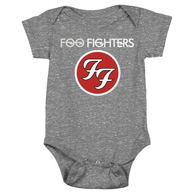 Baby Foo Fighters Bodysuit Charcoal 3-6 M