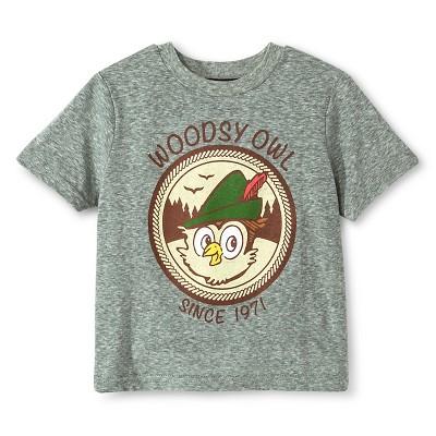 Baby Boys' Smokey Bear Woodsy Owl T-Shirt - Heather Grey 12 M