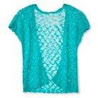 Girls' Open Cardigan Aqua XL (14-16) - Cherokee®