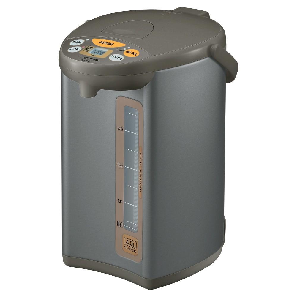 Zojirushi Micom Water Boiler & Warmer - Silver Brown, 4 liters