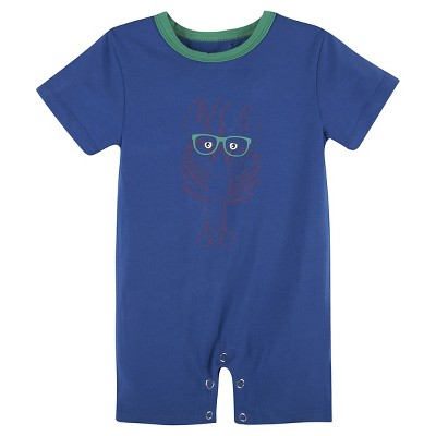 G-Cutee® Baby Boys' Lobster Printed Romper - Blue 0-3M