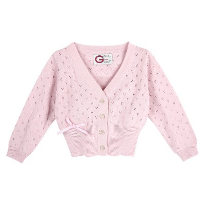 G-Cutee® Baby Girls' Cardigan with Gingham Bow - Pink 3-6 M
