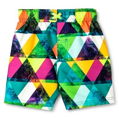 Baby Boys' Geometric Print Swim Trunk Green 12M - Circo™