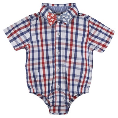 Child Bodysuits G-Cutee Red Blue 12-18 M
