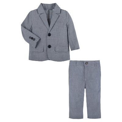 G-Cutee® Baby Boys' Chambray Blazer & Pant Set - Blue 12-18 M