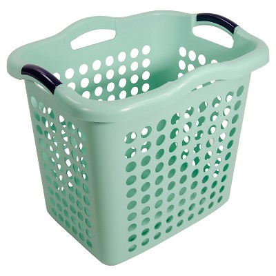 Home Logic 1.5 Bu Décor Laundry Basket - Green