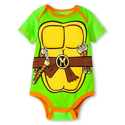 Newborn Boys' Teenage Mutant Nija Turtle Bodysuit - Green 0-3M