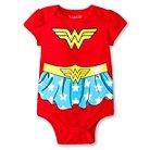 Newborn Girls' Wonder Woman Bodysuit - Red