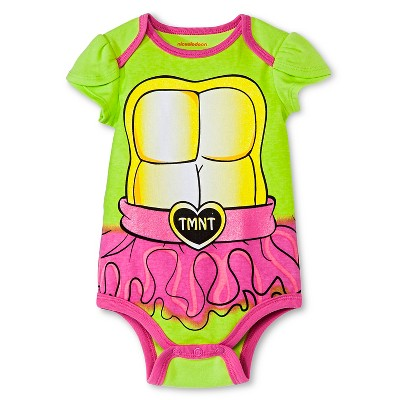 Newborn Girls' Teenage Mutant Nija Turtle Bodysuit - Green NB