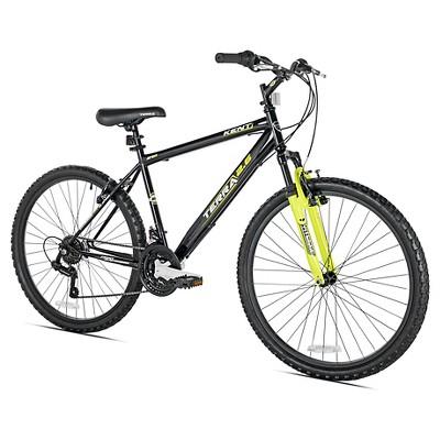 "Kent Terra 2.6 - 26"" Mens Mountain Bike 21 Speed - Black/Yellow"