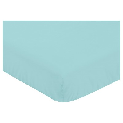 Sweet Jojo Designs Emma Fitted Crib Sheet - Turquoise