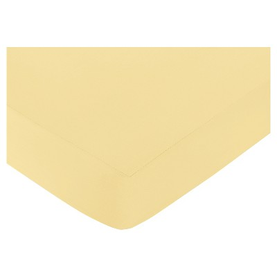 Sweet Jojo Designs Honey Bee Fitted Crib Sheet - Yellow