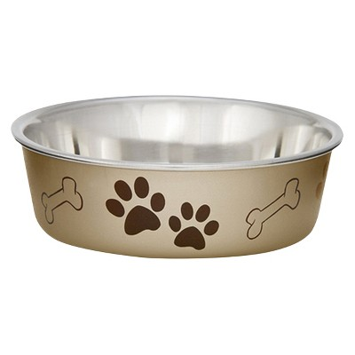 Loving Pet Products Metallic Bella Bowl Extra Large Champagne
