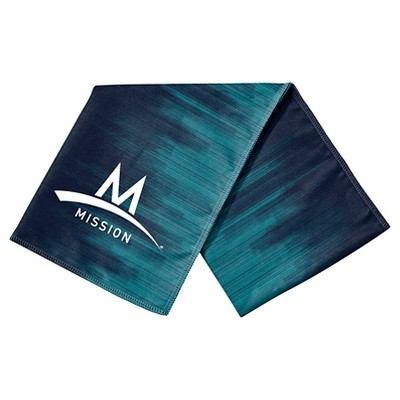 Mission EnduraCool™ Microfiber Instant Cooling Towel  - CityScape Teal