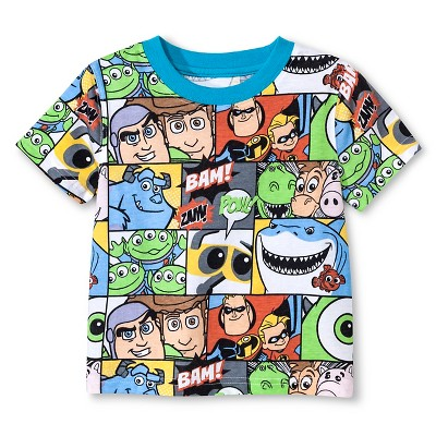 Baby Boys' Disney Pixar® Comic Short Sleeve T-Shirt - Multi-Colored 18 M