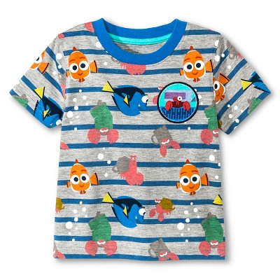 Baby Boys' Finding Dory® Stripe Short Sleeve Tee - Gray 18M