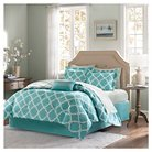 Becker 7 Piece Comforter Set with Sheet Set- Aqua (Twin)