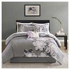 Jasmine 7 Piece Comforter Set- Grey (King)