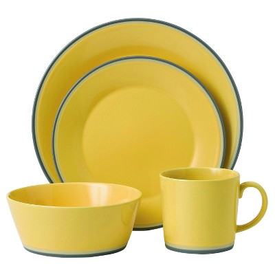 Royal Doulton Colors Yellow 4-Piece Place Setting