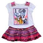 Baby Girls' Lion Guard 2-Piece Tunic and Circle Skirt Set White/Pink