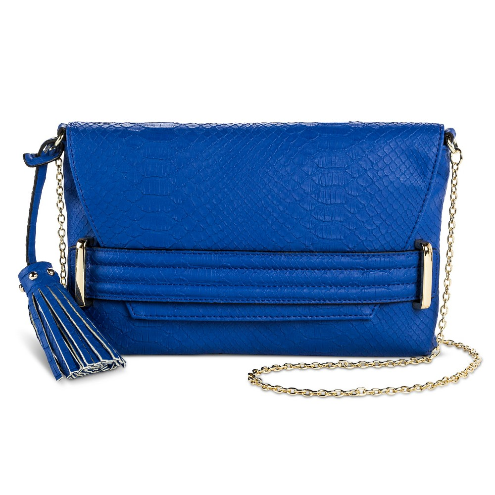 Blue Sam & Libby faux leather cross body bag from Target.