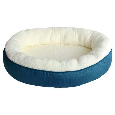 Oval Pet Bed - Faux Linen (M) - Boots & Barkley