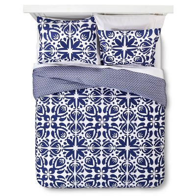 Sabrina Soto™ Cabana Duvet Cover And Sham Set King - Navy & White