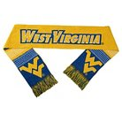 Forever Collectibles - NCAA Reversible Split Logo Scarf West Virginia University Mountaineers