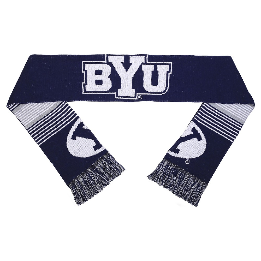 Forever Collectibles - NCAA Reversible Split Logo Scarf Brigham Young University Cougars, Adult Unisex, Byu Cougars