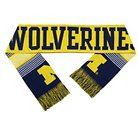 Forever Collectibles - NCAA Reversible Split Logo Scarf University of Michigan Wolverines
