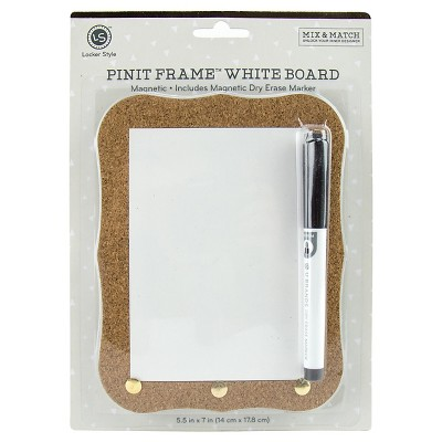 Locker Style™ Pin-it Cork Frame Dry Erase Board, Magnetic
