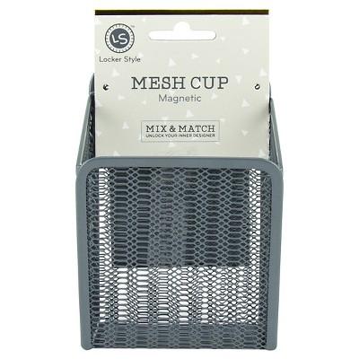 Locker Style™ Mesh Cup, Magnetic - Grey