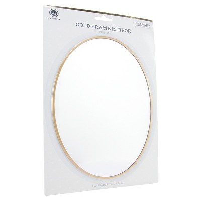 Locker Style™ Large Oval Mirror with Gold Frame