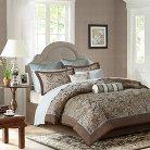 Whitman Jacquard Comforter Set (Queen) Blue - 12pc