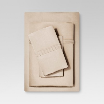 Organic Cotton Sheet Set (Twin) Brown Linen - Threshold™