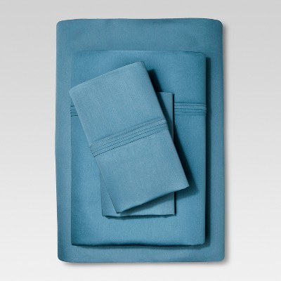 Organic Cotton Sheet Set (Queen) Deep Blue - Threshold™