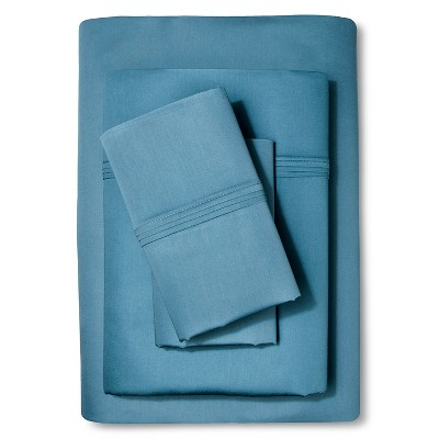 Cal King Sheet Set Organic Deep Blue