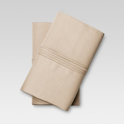 Organic Cotton Pillowcase Set (Standard) Brown Linen - Threshold™