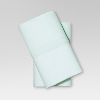 Organic Cotton Pillowcase Set (Standard) Sealight Aqua - Threshold™