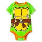 Newborn Boys' Teenage Mutant Nija Turtle Bodysuit - Green 0-3M