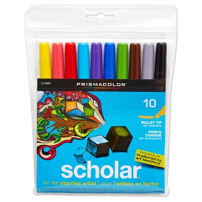 Prismacolor® Scholar Bullet Tip Colored Markers - 10 ct