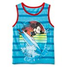 Toddler Boys' Mickey Mouse™ Stripe Tank Top - Turquoise Blue