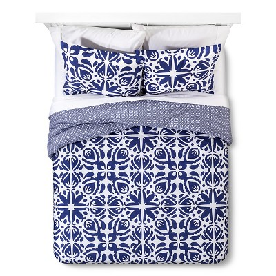 Cabana Comforter And Sham Set Full/Queen - Navy & White Sabrina Soto®