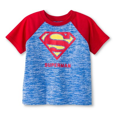 Toddler Boys' Superman Active Raglan Tee - Navy 2T
