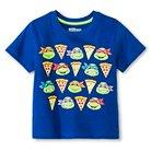 Toddler Boys' Teenage Mutant Ninja Turtles Short Sleeve Shirt - Blue 2T