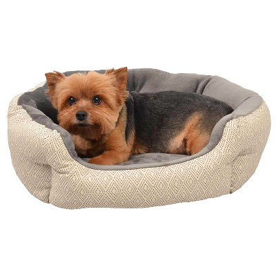 Oval Pet Bed - Dotted Diamond (S) - Boots & Barkley