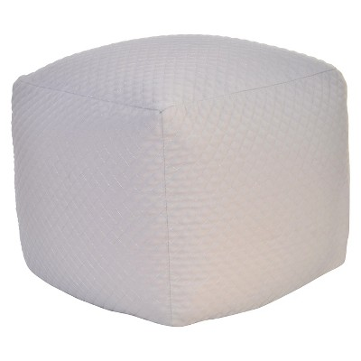 Quilted Pouf Ottoman Gray - Room Essentials™