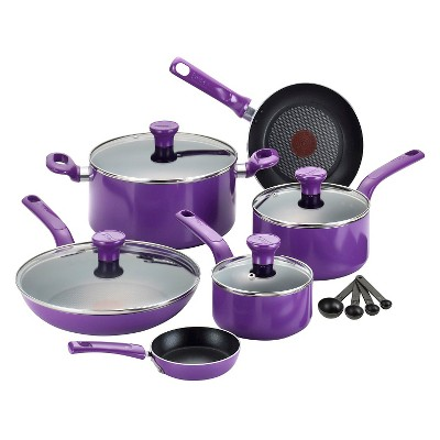 T-Fal 14 Piece Excite Cookware Set - Grape