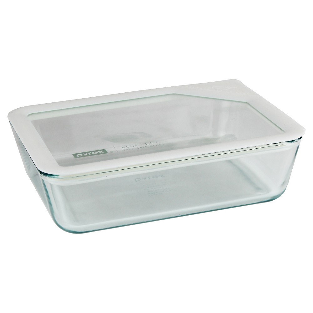 Pyrex 6 Cup Ultimate Glass Lid - White, Clear